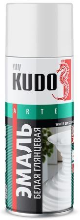 KU-1001 Эмаль универсальная белая глянцевая 520 мл