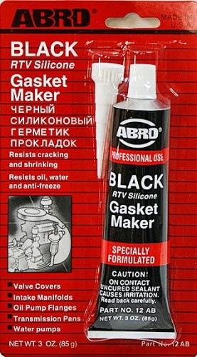 Герметик прокладка черн.(К) ABRO 85гр